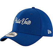 New Era Men's Philadelphia 76ers 39Thirty 'Phila Unite' Royal Stretch Fit Hat