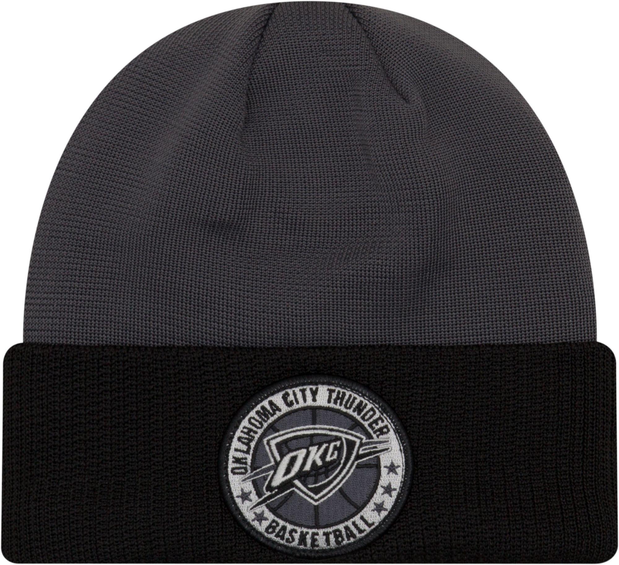 d5b381454a5 ... pom cuffed knit hat 8ba5e 3d95b  coupon for new era mens oklahoma city  thunder on court knit hat e6246 66cff