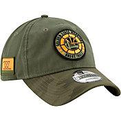 New Era Men's Golden State Warriors 9Twenty On-Court Camo Adjustable Hat