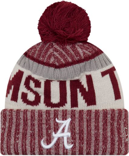 new arrival 55bcc 6c7d5 ... hat with pom 16227 26acd  shopping new era mens alabama crimson tide  crimson sport knit beanie f5b7a 5e444