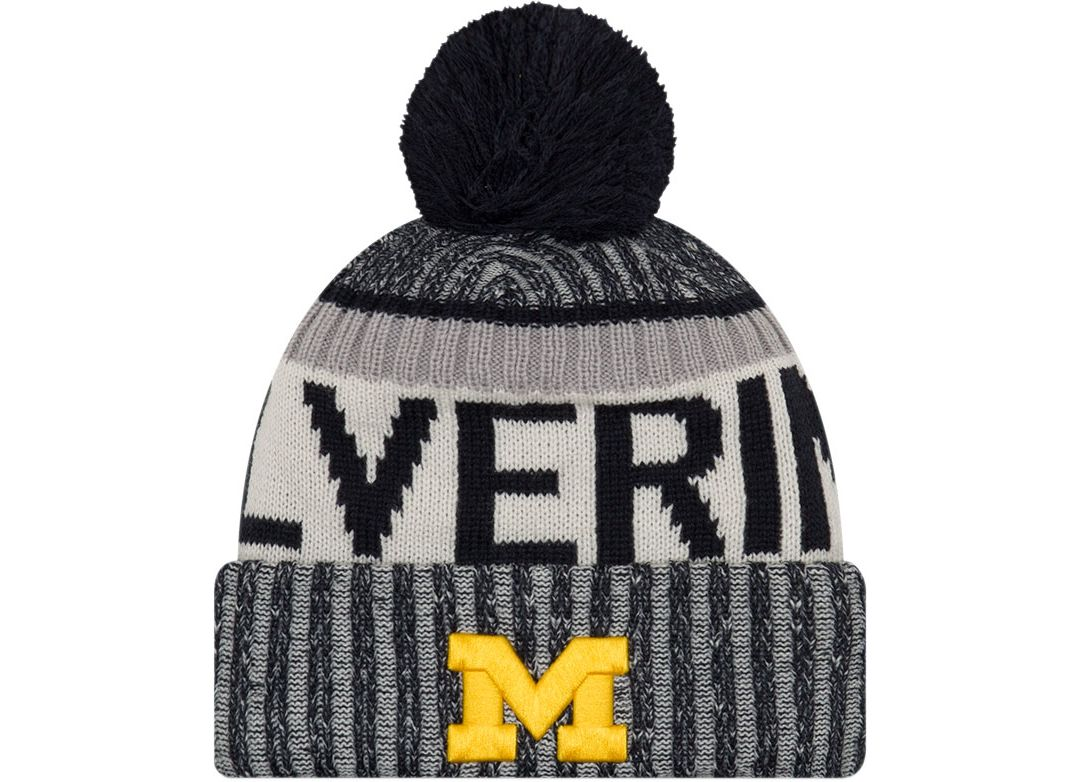 99fb9ea0 New Era Men's Michigan Wolverines Blue Sport Knit Beanie   DICK'S ...