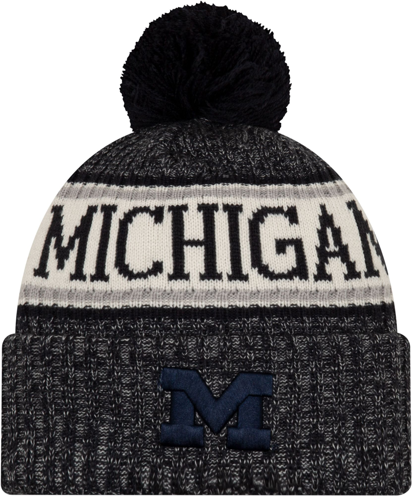 4cf9ca706e0 New Era Men s Michigan Wolverines Blue Sport Knit Beanie