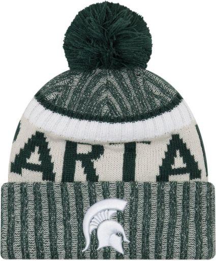 designer fashion cd18b 99d59 New Era Men s Michigan State Spartans Green Sport Knit Beanie. noImageFound
