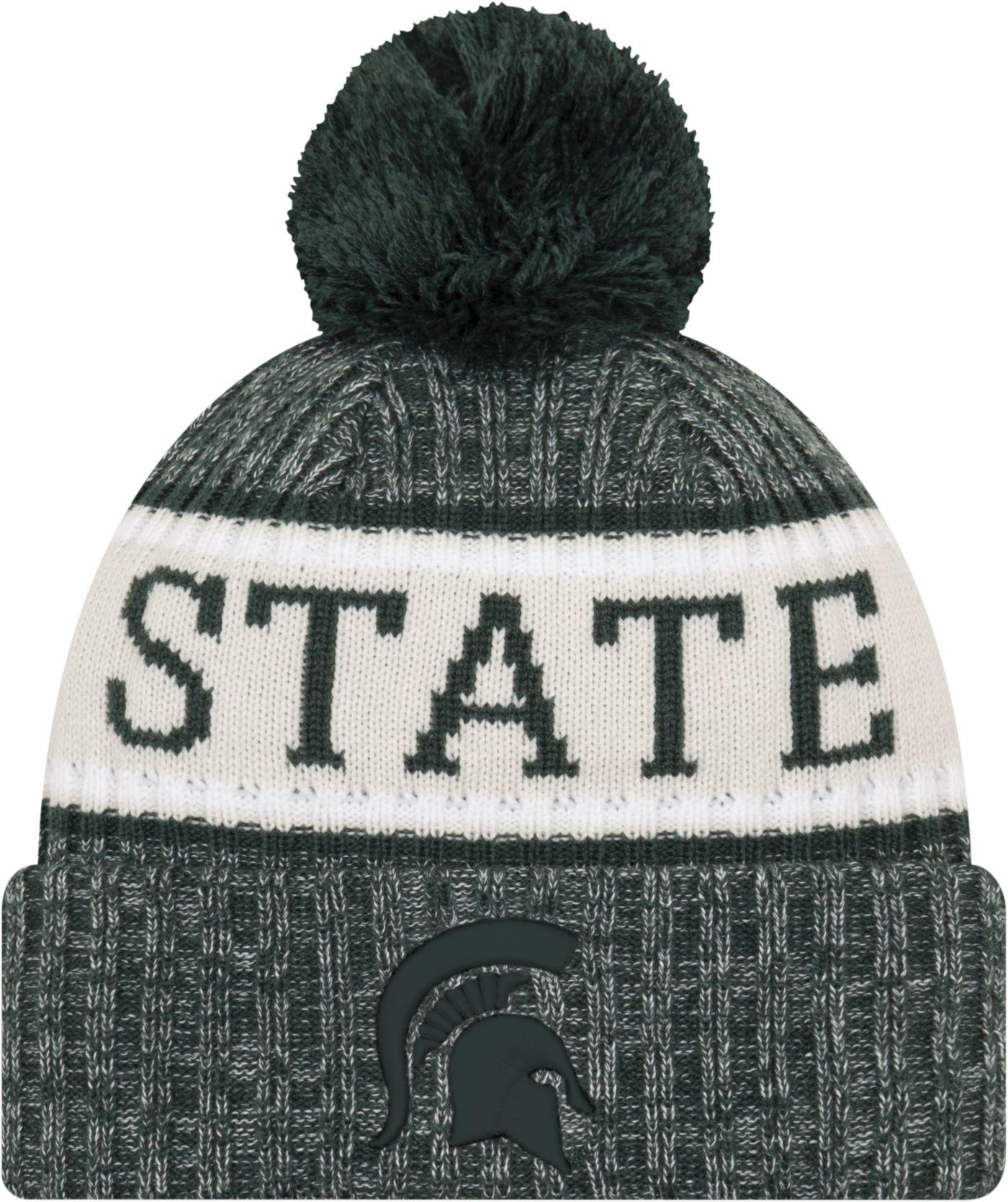 New Era Men's Michigan State Spartans Green Sport Knit Beanie