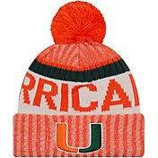 New Era Men's Miami Hurricanes Orange Sport Knit Beanie
