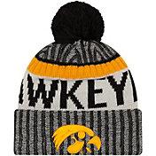 New Era Men's Iowa Hawkeyes Sport Black Knit Beanie