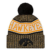 New Era Men's Iowa Hawkeyes Sport Knit Black Beanie