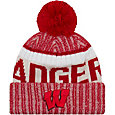 New Era Men's Wisconsin Badgers Red Sport Knit Beanie