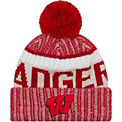 22b3777beb371 Product Image · New Era Men s Wisconsin Badgers Red Sport Knit Beanie
