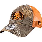 New Era Men's San Francisco 49ers Real Tree 9Forty Orange Camo Adjustable Trucker Hat