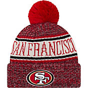 New Era Men's San Francisco 49ers Sideline Cold Weather Red Sport Knit
