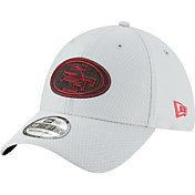 New Era Men's San Francisco 49ers Sideline Training Camp 39Thirty Grey Stretch Fit Hat