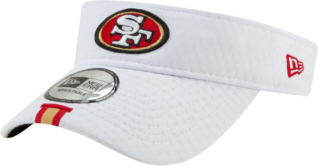564a76698 New Era Men's San Francisco 49ers Sideline Training Camp Adjustable White  Visor