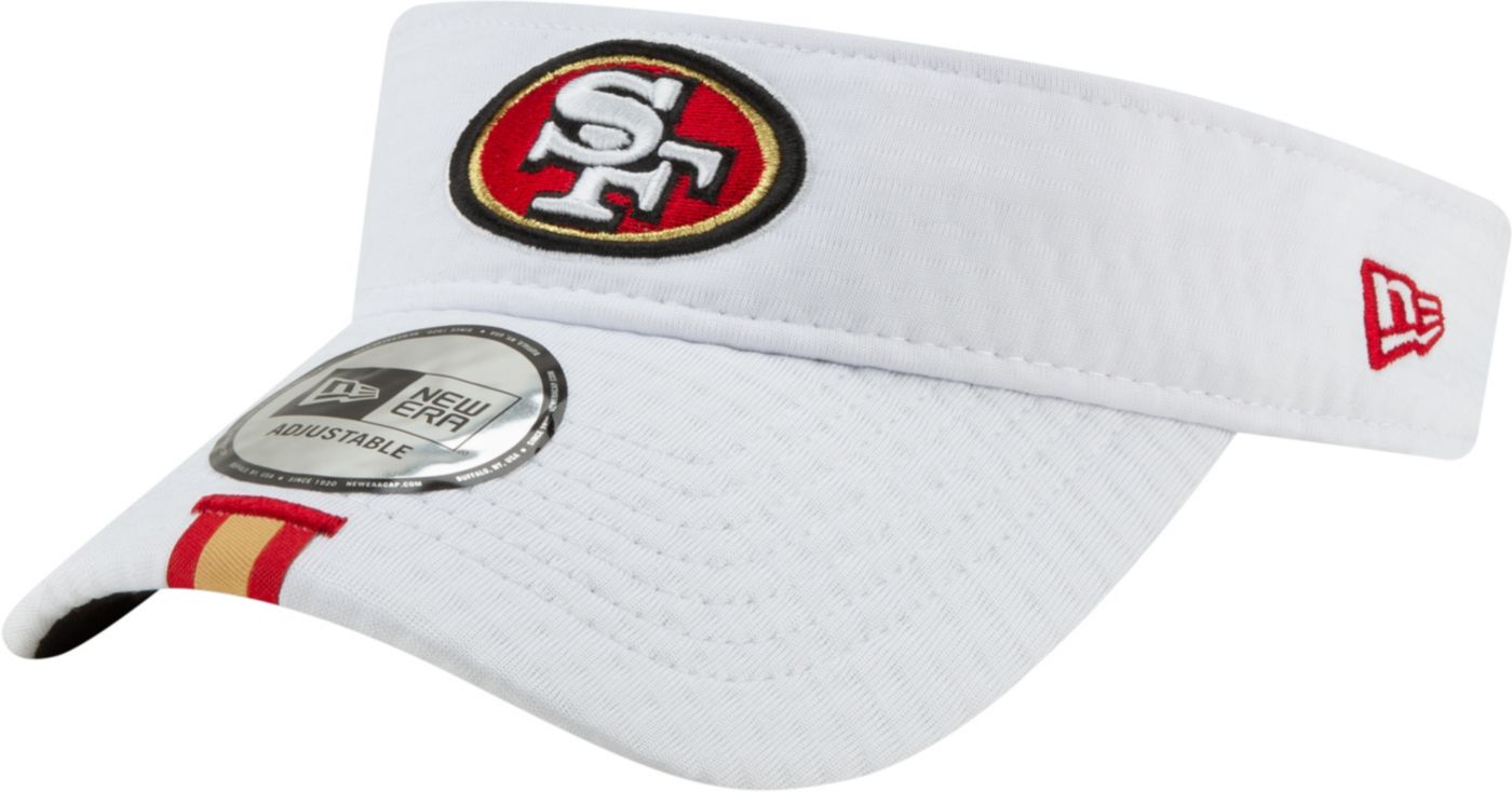 New Era Men's San Francisco 49ers Sideline Training Camp Adjustable White Visor