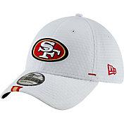 New Era Men's San Francisco 49ers Sideline Training Camp 39Thirty Stretch Fit White Hat