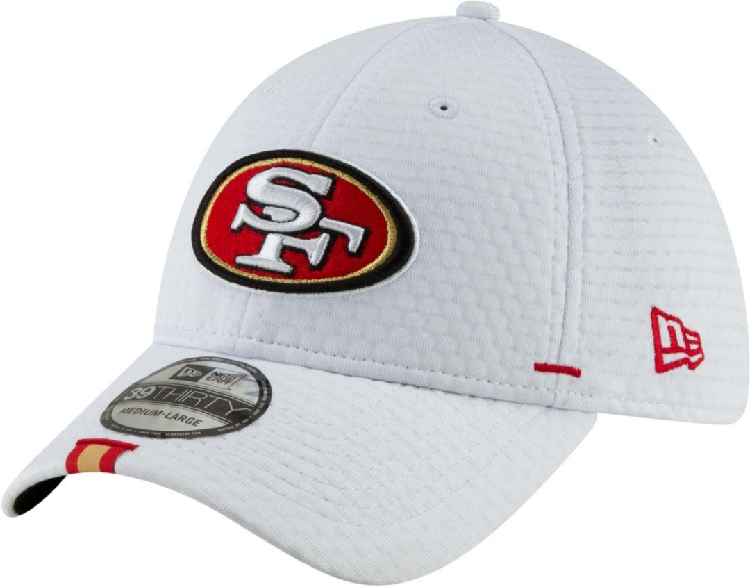 57e84b3e New Era Men's San Francisco 49ers Sideline Training Camp 39Thirty Stretch  Fit White Hat 1