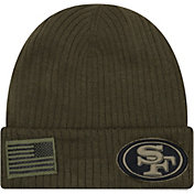New Era Men's Salute to Service San Francisco 49ers Olive Cuffed Knit