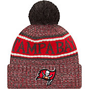 New Era Men's Tampa Bay Buccaneers Sideline Cold Weather Reverse Sport Black Knit