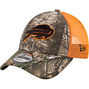 New Era Men's Buffalo Bills Real Tree 9Forty Orange Camo Adjustable Trucker Hat