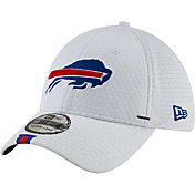New Era Men's Buffalo Bills Sideline Training Camp 39Thirty Stretch Fit White Hat