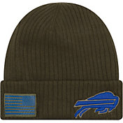 New Era Men's Salute to Service Buffalo Bills Olive Cuffed Knit