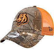 New Era Men's Cincinnati Bengals Real Tree 9Forty Orange Camo Adjustable Trucker Hat