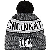 New Era Men's Cincinnati Bengals Sideline Cold Weather Reverse Black Sport Knit