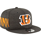New Era Men's Cincinnati Bengals Sideline Home 9Fifty Black Adjustable Hat