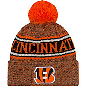 New Era Men's Cincinnati Bengals Sideline Cold Weather Reverse Orange Sport Knit