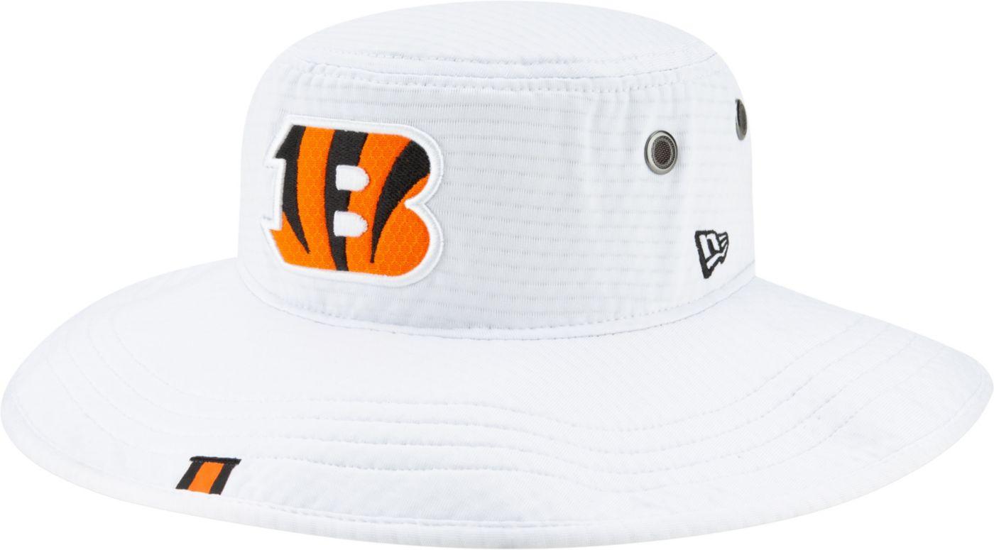 New Era Men's Cincinnati Bengals Sideline Training Camp Panama White Bucket Hat