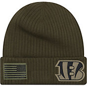 New Era Men's Salute to Service Cincinnati Bengals Olive Cuffed Knit