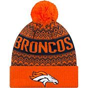 New Era Men's Denver Broncos Wintry Orange Pom Knit