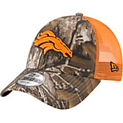 New Era Men's Denver Broncos Real Tree 9Forty Orange Camo Adjustable Trucker Hat