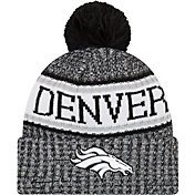 New Era Men's Denver Broncos Sideline Cold Weather Reverse Black Sport Knit