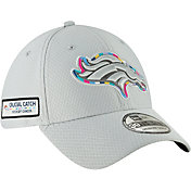 New Era Men's Crucial Catch Denver Broncos Sideline 39Thirty White Stretch Fit Hat