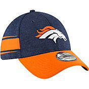 New Era Men's Denver Broncos Sideline Home 39Thirty Navy Stretch Fit Hat