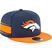 New Era Men's Denver Broncos Sideline Home 9Fifty Navy Adjustable Hat