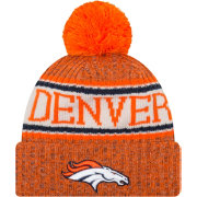 New Era Men's Denver Broncos Sideline Cold Weather Orange Sport Knit