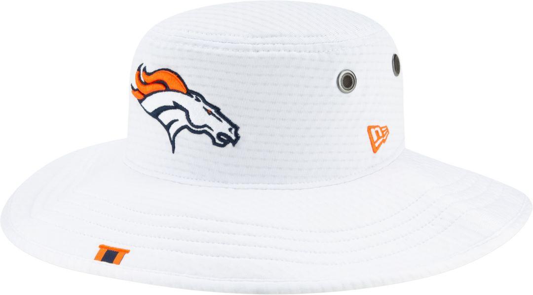4e8258719 New Era Men's Denver Broncos Sideline Training Camp Panama White Bucket Hat