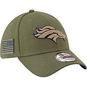 women wearing denver broncos hat