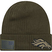New Era Men's Salute to Service Denver Broncos Olive Cuffed Knit