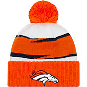 New Era Men's Denver Broncos Thanksgiving Orange Pom Knit
