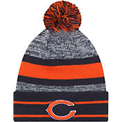 New Era Men's Chicago Bears Navy Cuffed Pom Knit