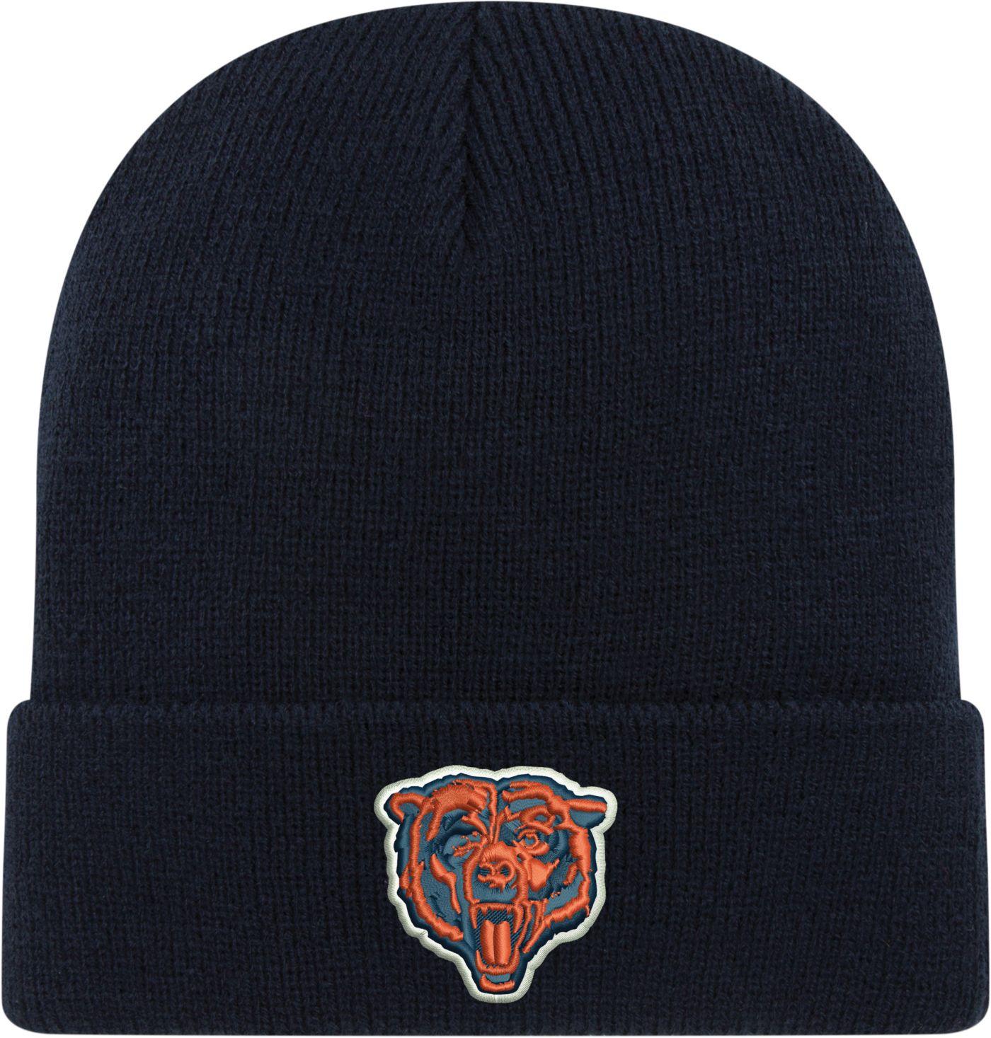 New Era Men's Chicago Bears Navy Cuffed Knit