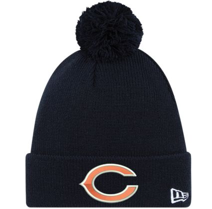 ee3a3241e New Era Men's Chicago Bears Navy Cuffed Pom Knit