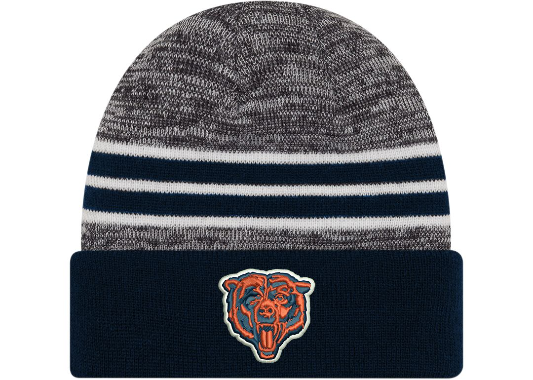 edb637424 New Era Men's Chicago Bears Marled Navy Cuffed Knit Beanie