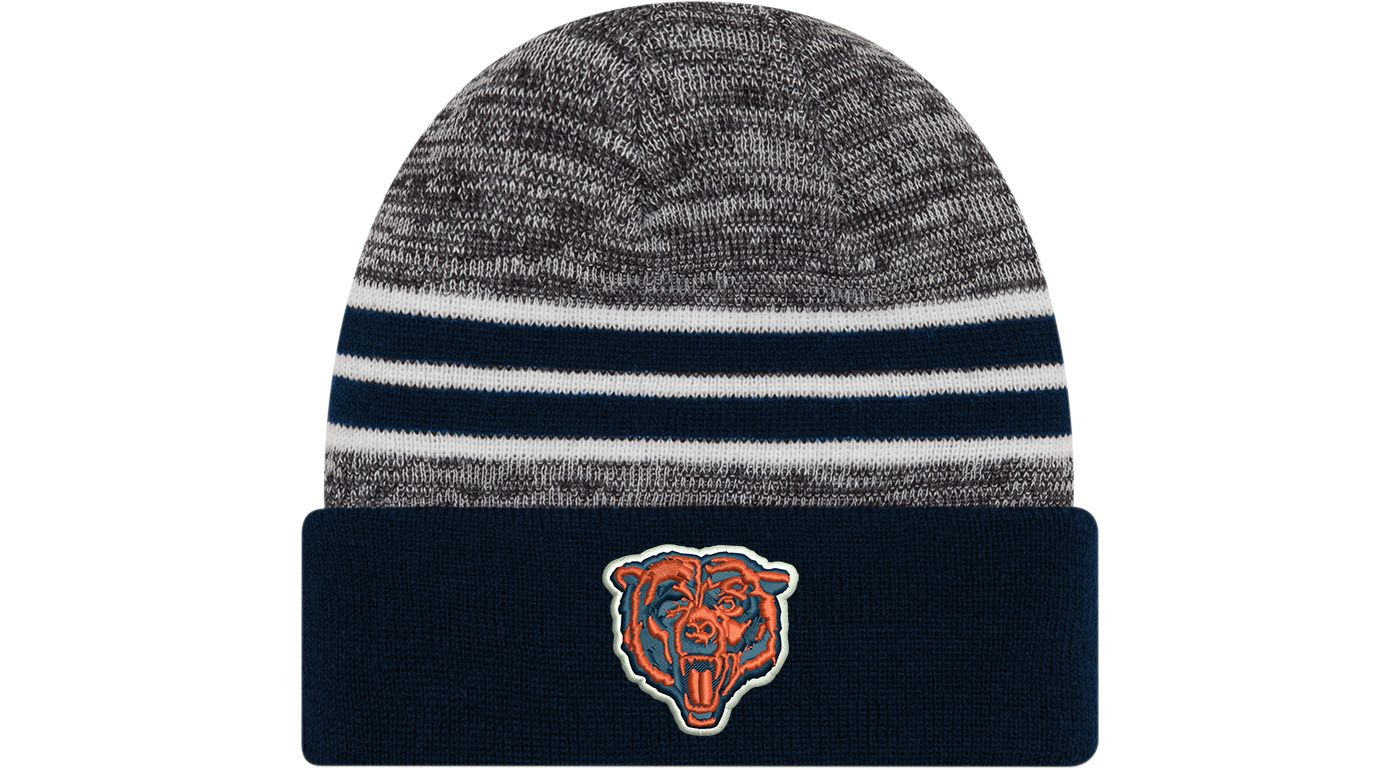 New Era Men's Chicago Bears Marled Navy Cuffed Knit Beanie