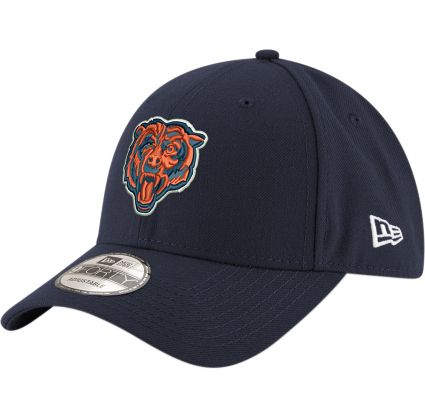 90985179bc2 New Era Men s Chicago Bears 9Forty Navy Adjustable Hat