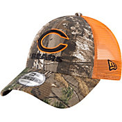 New Era Men's Chicago Bears Real Tree 9Forty Orange Camo Adjustable Trucker Hat