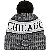 New Era Men's Chicago Bears Sideline Cold Weather Reverse Black Sport Knit